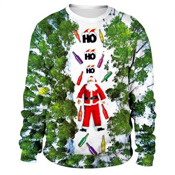Skiing Santa 3D Printed Sweatshirts