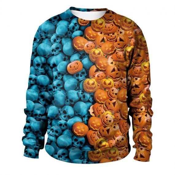Skull Pumpkin 3D Printed Sweatshirts