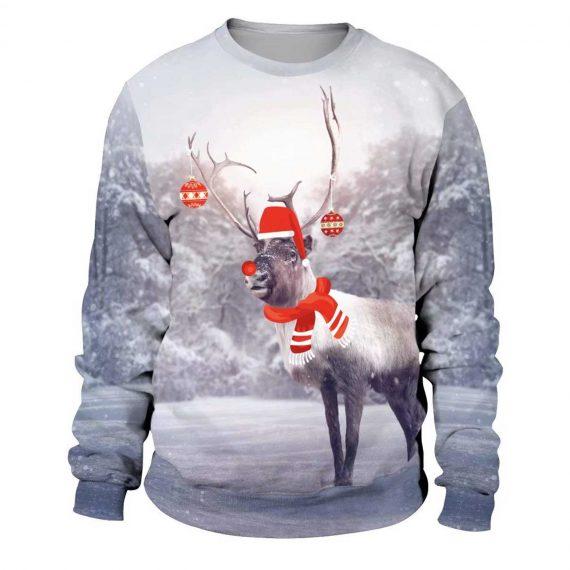 Snow Reindeer 3D Printed Sweatshirts