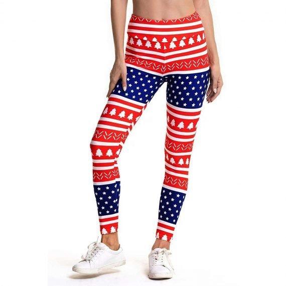 US Flag Women's Christmas Leggings & Tights