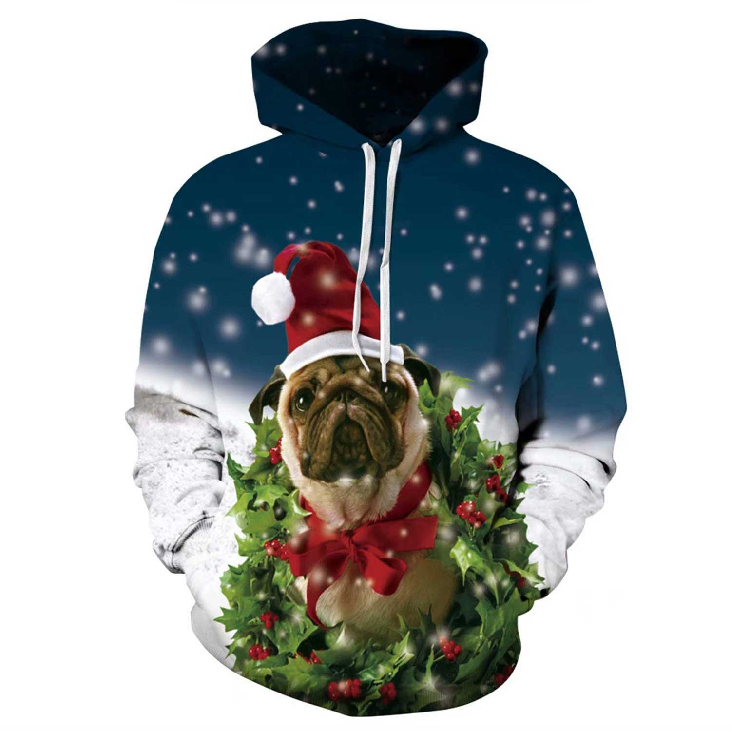 31a452b316ec Xmas Tree Dog 3D Printed Hoodies