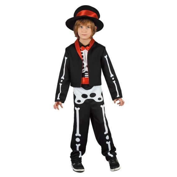 Boys Day of the Dead Crazy Skeleton Halloween Outfit