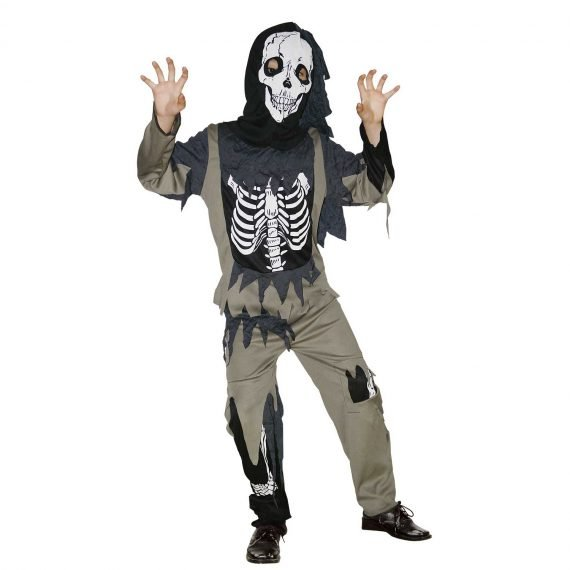 Boys Scary Skeleton Zombie Halloween Costume