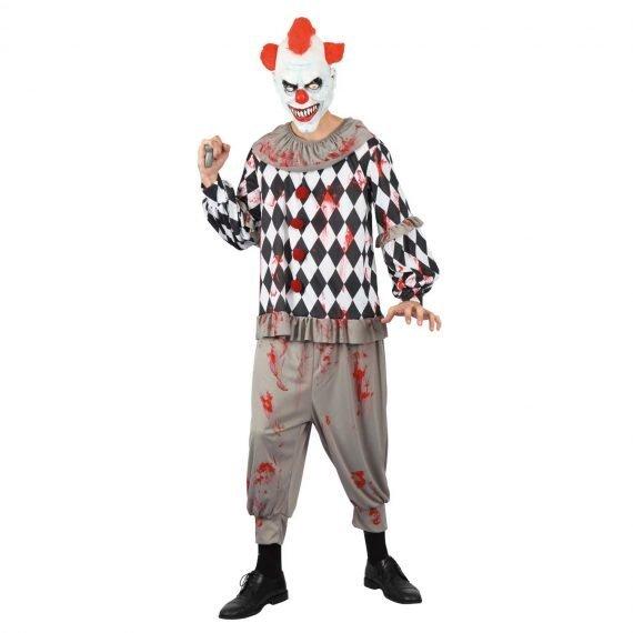 Creepy Court Jester Halloween Costume for Men