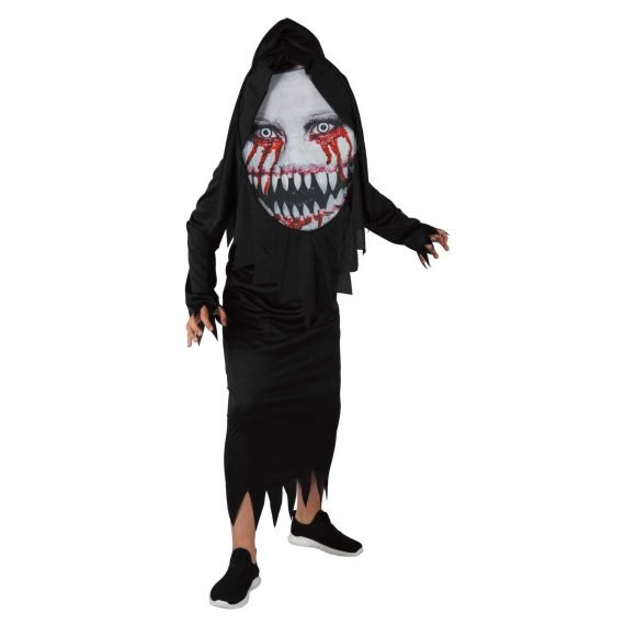 Horror Demon Hooded Halloween Robe for Boys and Girls