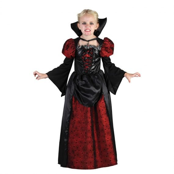 Kids Girl Scary Vampiress Halloween Dress Costume