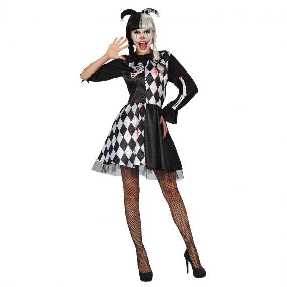Ladies Cheeky Creepy Clown Costume for Halloween