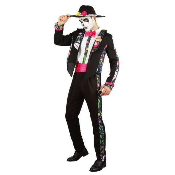 Men's Festive Floral Suit Outfit for Halloween Holiday