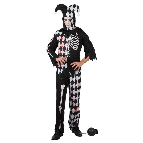 Men's Scary Joker Halloween Holiday Outfit