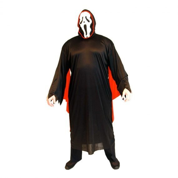 Men's Scary Vampire Robe with Creepy Mask for Halloween Holiday