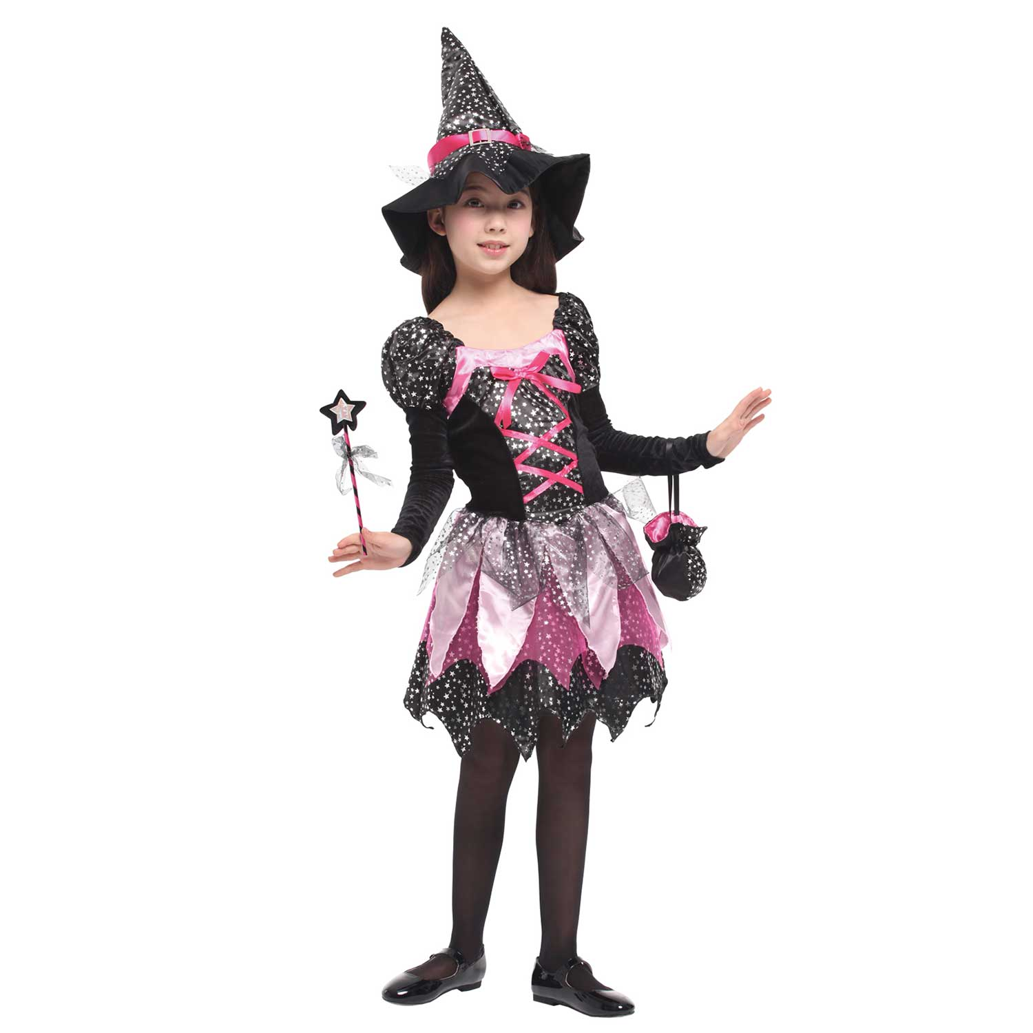 Sparkle Fairy Witch Scary Halloween Costume For Girls