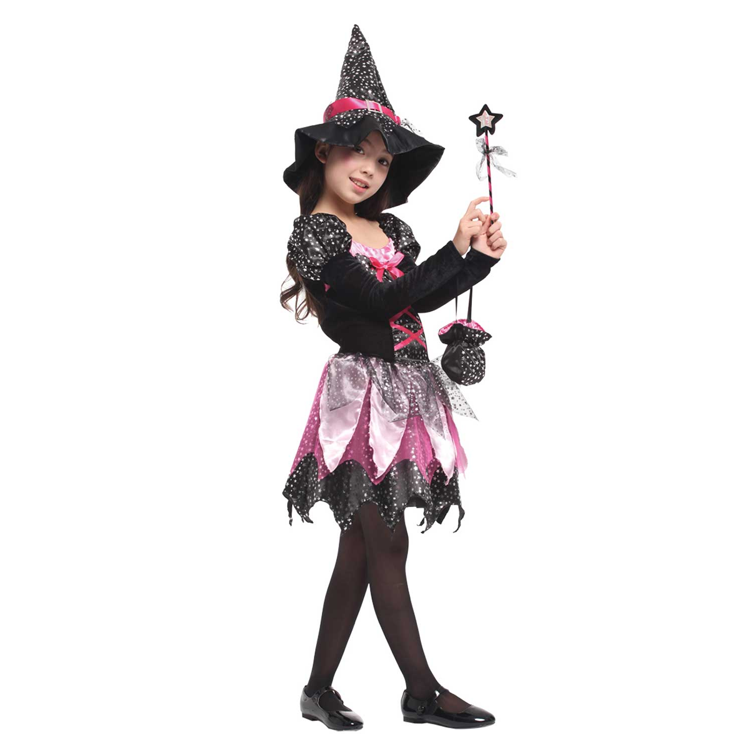 Halloween Costumes For Kids Scary.Sparkle Fairy Witch Scary Halloween Costume For Girls