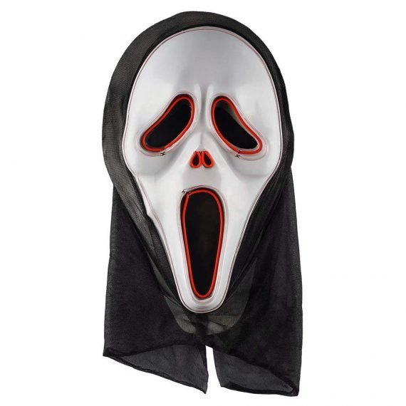 Classic Scream Light Up Scary Halloween Mask