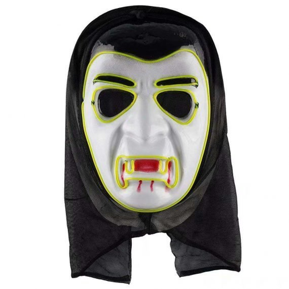 A Cool Green LED Scary Halloween Monster MaskA Cool Green LED Scary Halloween Monster Mask