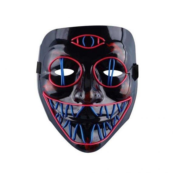 Creepy Pink Blue Monster Lightning Halloween Mask