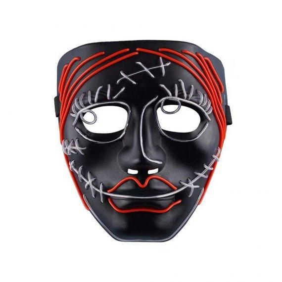 Freak Face Cool Halloween LED Light Up Mask