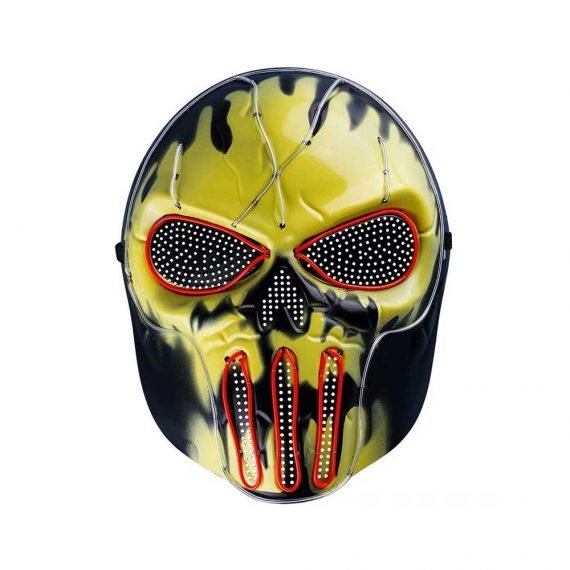 Halloween Scary Demon Skull LED Mask