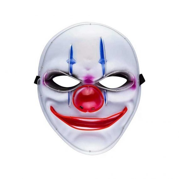Killer Clown Scary Halloween Light Up Mask