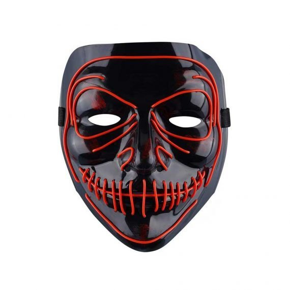 Red Demon Monster Light Up Halloween Mask