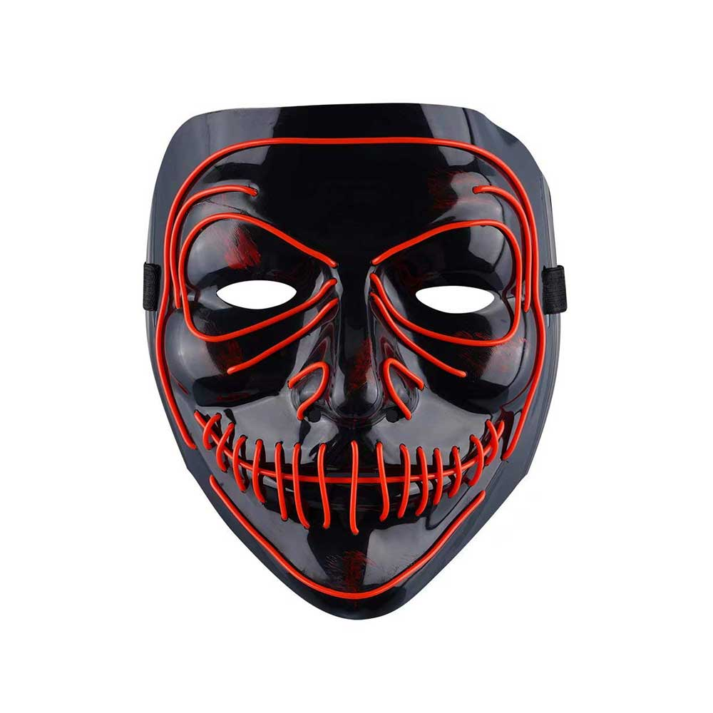 Scary Scary Red Demon Monster Light Up Halloween Mask