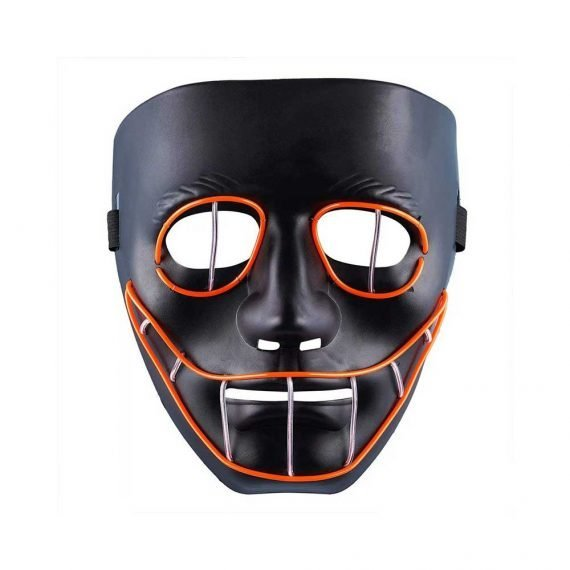Rock the Retro Disco Halloween LED Face Mask
