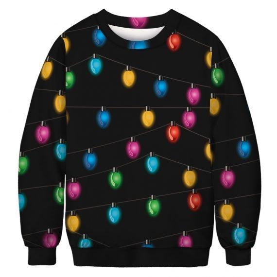 All the Pretty Lights Ugly Christmas Sweatshirt