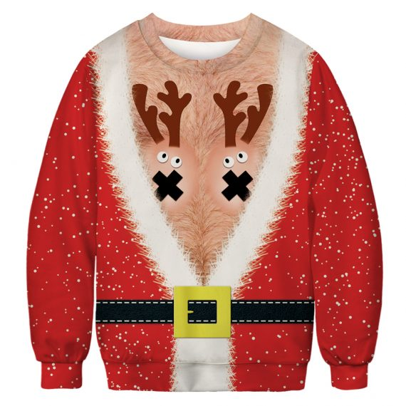 Flash a Festive Rack Ugly Christmas Sweatshirt
