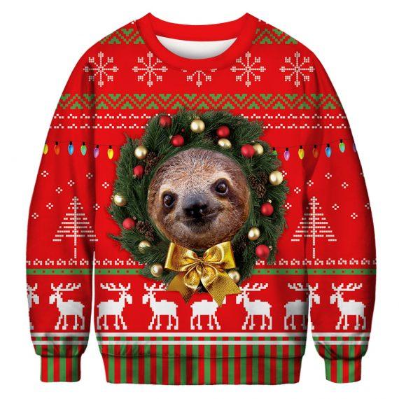 Go Sloth This Season Ugly Christmas Sweatshirt