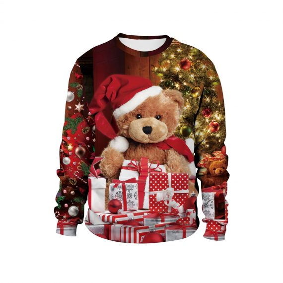 Have a Beary Festive 3D Ugly Christmas Sweatshirt