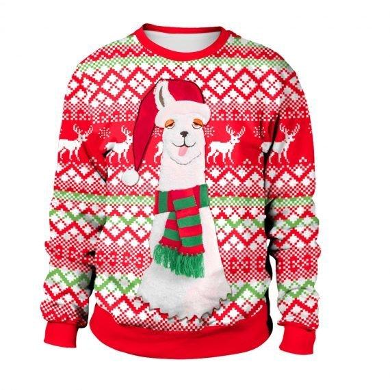 Llama Lovin' Fair Isle Ugly Christmas Sweatshirt