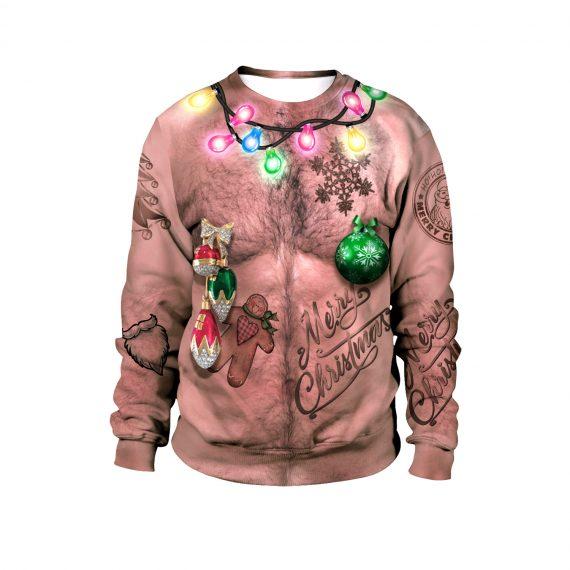 Nip On The Festive Flair Ugly Christmas Sweatshirt