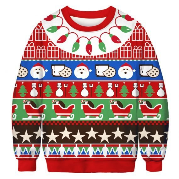 Print it Pretty Festive Ugly Christmas Sweatshirt