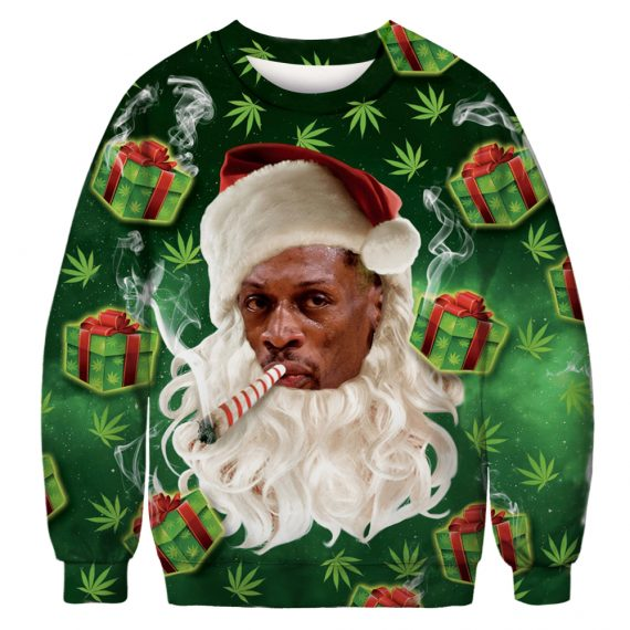 Rodman Santa Rocks Ugly Christmas Sweatshirt