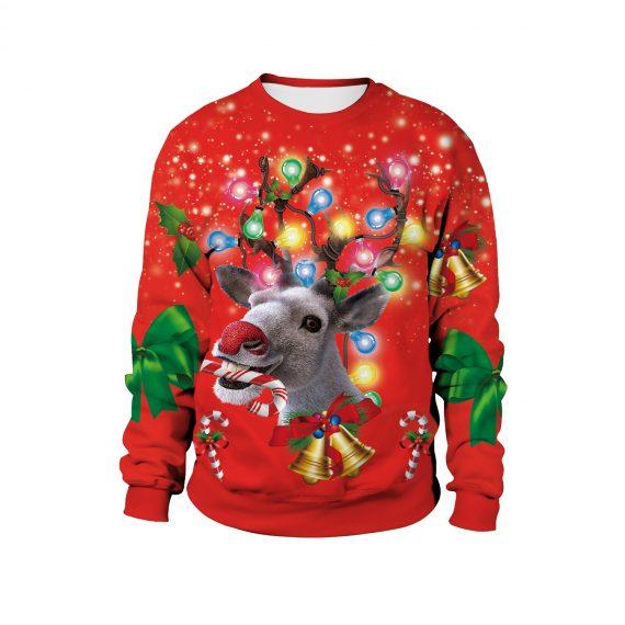 Roll on the Festive Reindeer Ugly Christmas Sweatshirt