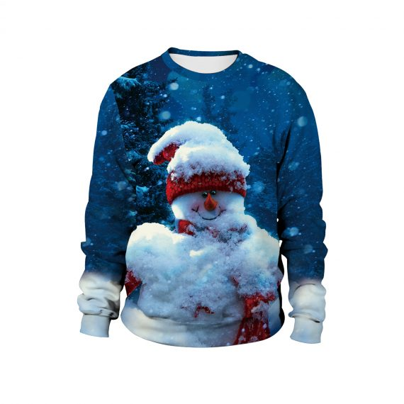 Snow Much Festive Fun 3D Ugly Christmas Sweatshirt
