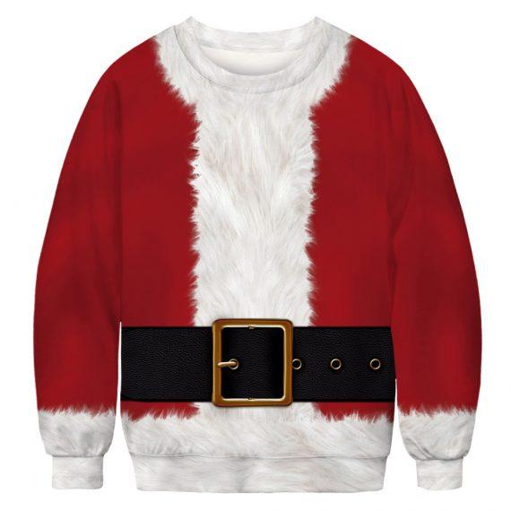 Stylin a Santa Suit Ugly Christmas Sweatshirt