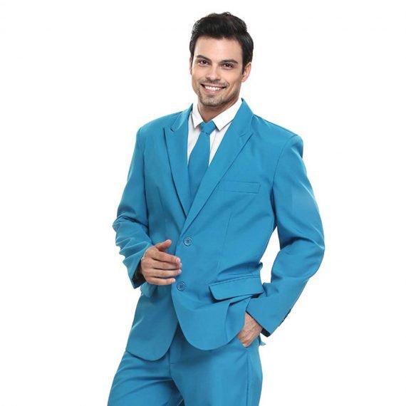Brilliant in Baby Blue Men's Party Suit