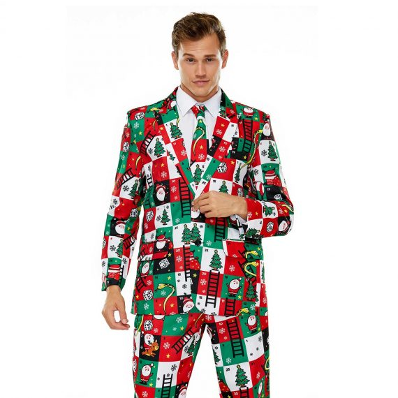 Festive Snakes and Ladders Mens Christmas Jacket