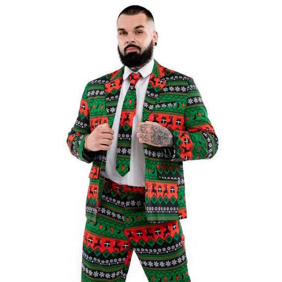 Rock it Retro Reindeer Men's Christmas Suit